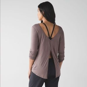 Lululemon cool cocoa zen bender long sleeve